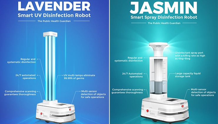 Geek+ launches two new disinfection robots